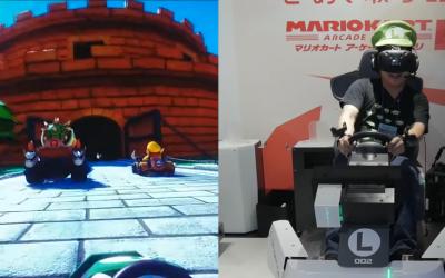 Mario Kart VR am Start